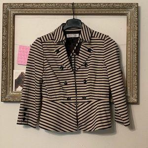 Tahari Striped Blazer 6 petite